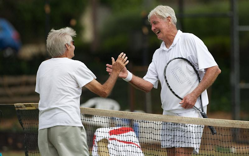 Singles tennis counts as 'vigorous' aerobic exercise, according to the NHS - Getty Images Contributor