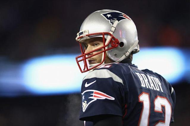 "Did NFL Network deliberately leave <a class=""link rapid-noclick-resp"" href=""/nfl/players/5228/"" data-ylk=""slk:Tom Brady"">Tom Brady</a> out of a promo? (Getty Images)"