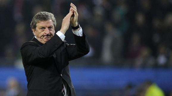 Fulham's head coach Roy Hodgson applauds