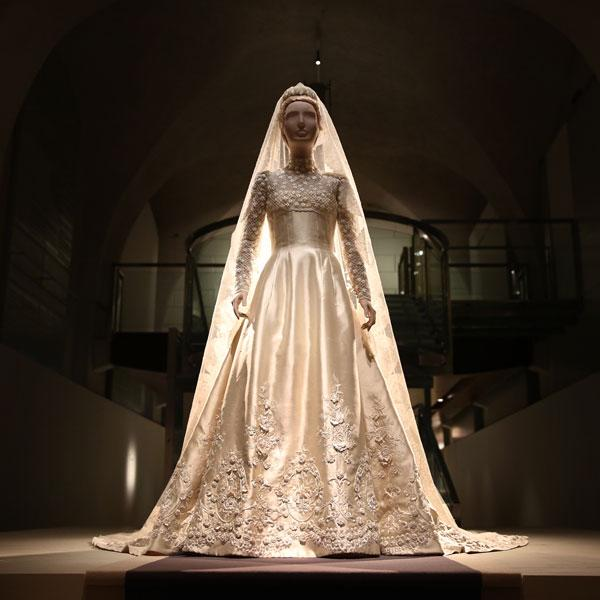 <b>Valentino: Master of Couture Exhibition in pictures </b><br><br>Princess Marie-Chantal of Greece's wedding dress from 1995.<br><br>© Peter Macdiarmid / Getty