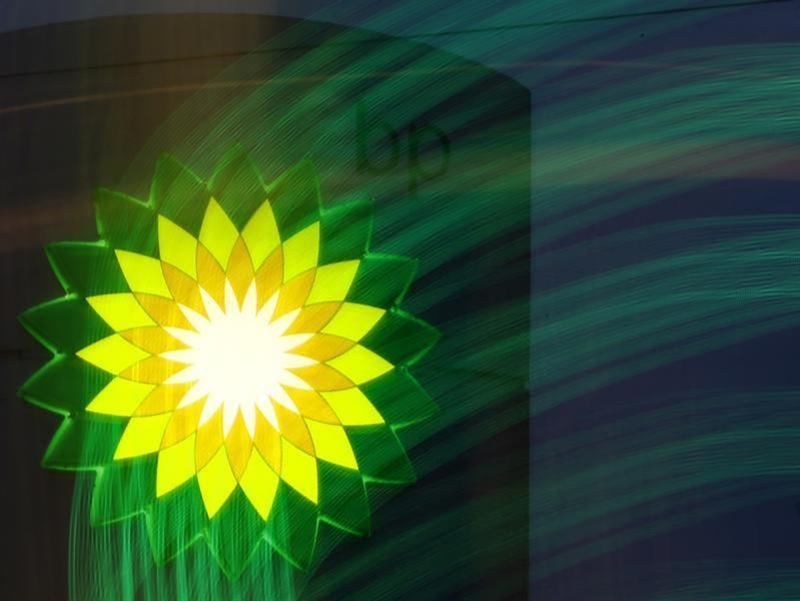 BP logo is seen at a fuel station of British oil company BP in St. Petersburg
