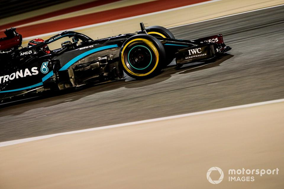 """George Russell, Mercedes F1 W11<span class=""""copyright"""">Zak Mauger / Motorsport Images</span>"""