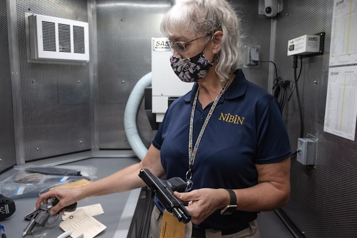 """ATF technician Jill Jacobson is a member of a team of specialists sent to Chicago as part of the Operation Legend task force<span class=""""copyright"""">Sebastián Hidalgo for TIME</span>"""