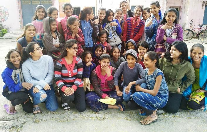 Empowerette, consisting of a team of seven girls aged 19 to 22 work with a cohort-based model where they would reach out to help 60 girls from rural areas every year.