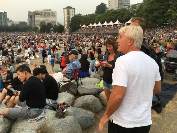 Crowds in English Bay at the 2017 event. Each night can draw as many as 400,000 spectators, organizers say.