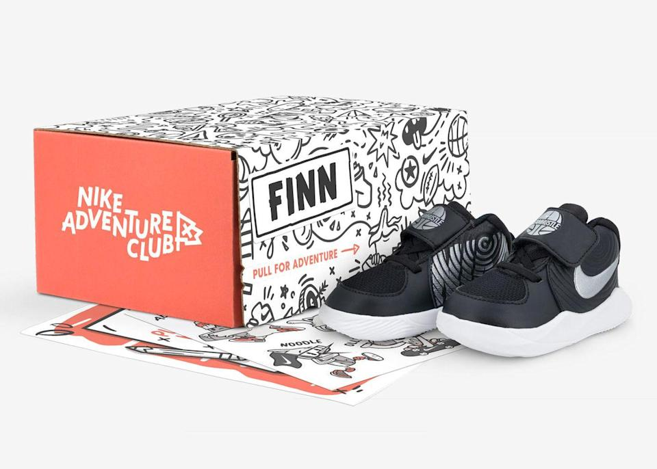 """<p>You have to get your kids new shoes all the time anyway, so you might as well get something to go with them. The Nike Adventure Club will send <strong>brand-new Nike or Converse sneakers</strong>, along with activities to do while wearing the new kicks.</p><p><em>$20+/month for four pairs per year (up to $50/month for 12 pairs per year)</em><br><em>Ages: 3–10</em></p><p><a class=""""link rapid-noclick-resp"""" href=""""https://www.nikeadventureclub.com/"""" rel=""""nofollow noopener"""" target=""""_blank"""" data-ylk=""""slk:BUY NOW"""">BUY NOW</a><br></p>"""