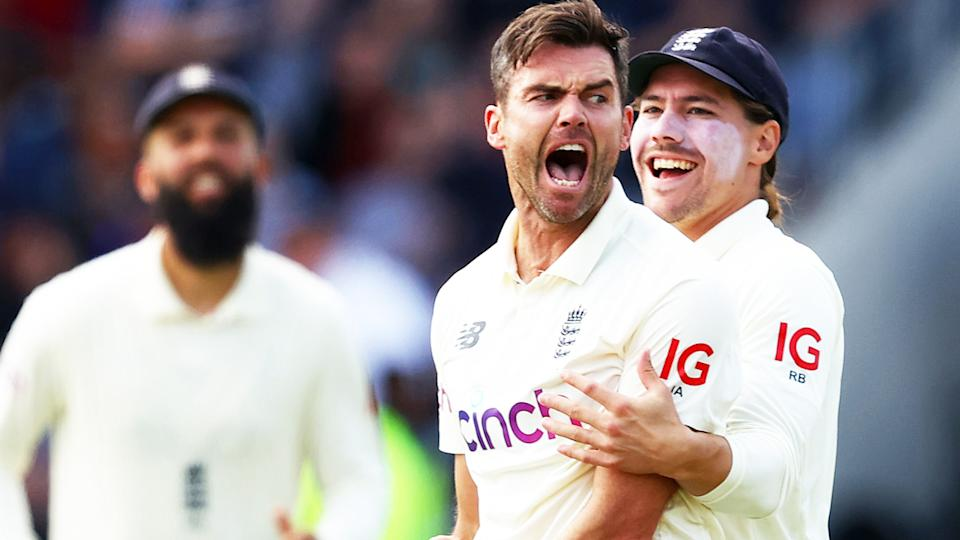 Jimmy Anderson, pictured here in action for England in the third Test against India.