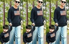Taimur Ali Khan twins with mom Kareena Kapoor Khan in this recent picture