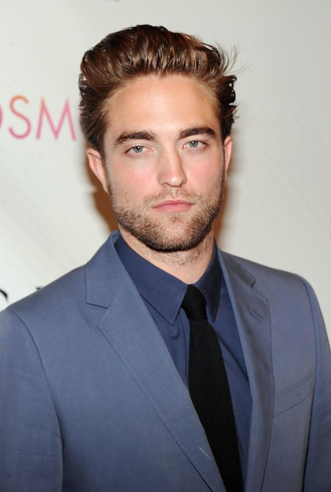 "Robert Pattinson attend the New York City premiere of ""Cosmopolis"" on August 13, 2012."