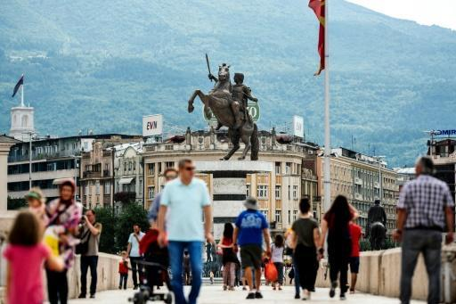 The old bridge of the Vardar river is in front of the monument of Alexander the Great in the center of Skopje. Macedonia's history textbooks now look set for another overhaul as the Balkans country closes in on a settlement with neighbouring Greece in a decades-long, bitter dispute over its name