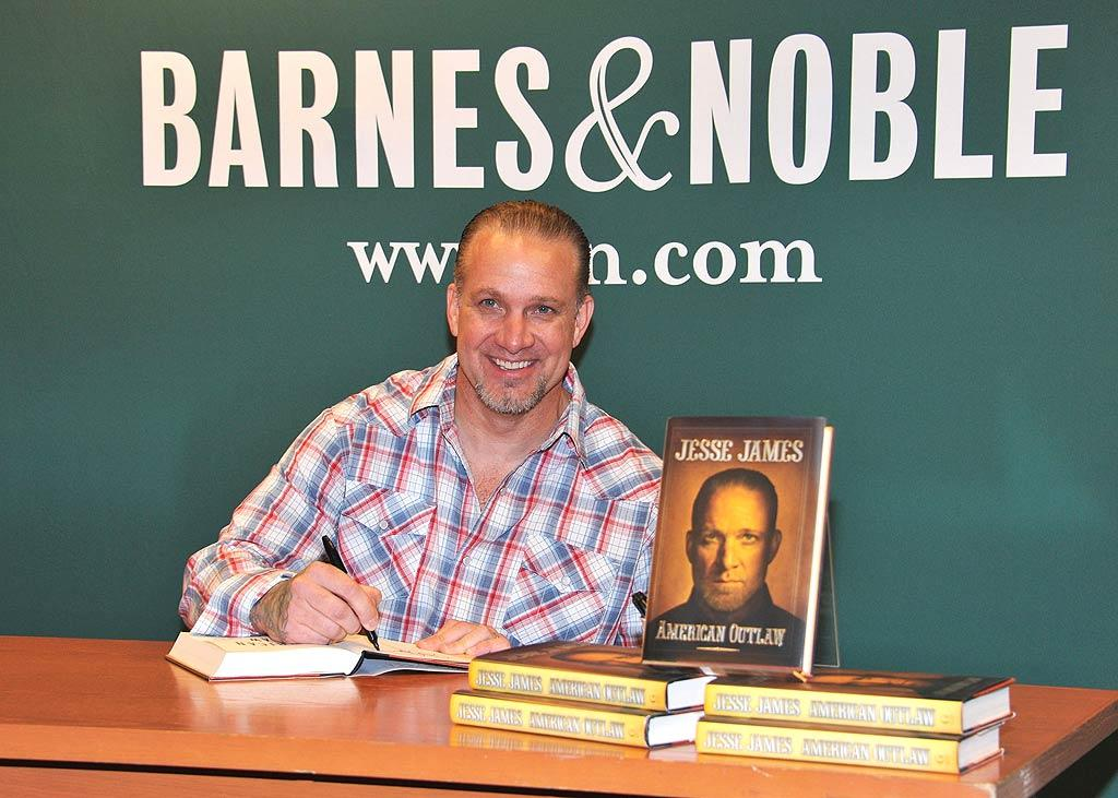 """Motorcycle maker, former reality star, and, of course, the ex-Mr. Sandra Bullock -- Jesse James -- signed copies of his new book, <i>American Outlaw</i>, at a Manhattan Barnes & Noble on Thursday. Are you planning to read it? Slaven Vlasic/<a href=""""http://www.gettyimages.com/"""" target=""""new"""">GettyImages.com</a> - May 5, 2011"""