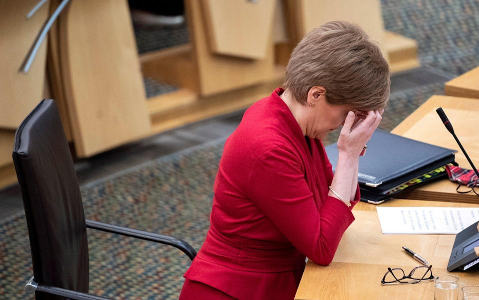 Nicola Sturgeon is under pressure to top up a £500 payment to NHS and social care workers -  Getty Images Europe
