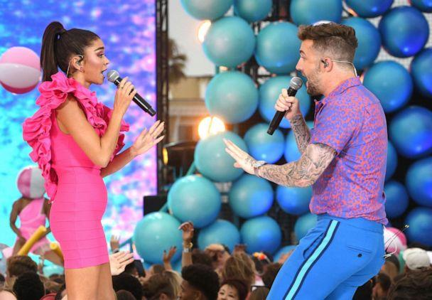 PHOTO: Sarah Hyland and Jordan McGraw perform onstage during FOX's Teen Choice Awards 2019, Aug. 11, 2019, in Hermosa Beach, Calif. (Kevin Winter/Getty Images)
