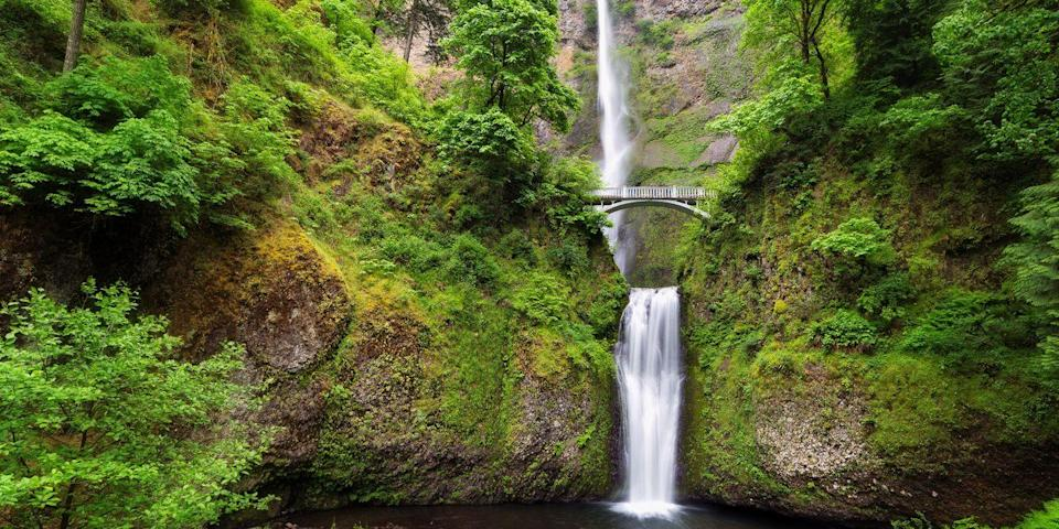 "<p><strong>Best for Pacific Northwest Scenery</strong></p><p>Immerse yourself in stunning Pacific Northwest scenery in the Columbia River Gorge, an hour's drive from <a href=""https://www.bestproducts.com/fun-things-to-do/a1410/things-to-do-in-portland/"" rel=""nofollow noopener"" target=""_blank"" data-ylk=""slk:Portland"" class=""link rapid-noclick-resp"">Portland</a>. The area is known for its majestic waterfalls, including <a href=""https://www.tripadvisor.com/Attraction_Review-g51775-d102490-Reviews-Multnomah_Falls-Bridal_Veil_Oregon.html"" rel=""nofollow noopener"" target=""_blank"" data-ylk=""slk:Multnomah Falls"" class=""link rapid-noclick-resp"">Multnomah Falls</a>. </p><p>After a day of hiking or biking, unwind in the town of Hood River with a craft beer at Full Sail Brewing Company, overlooking the gorge.</p><p><strong><em>Where to Stay: </em></strong><a href=""https://www.tripadvisor.com/Hotel_Review-g51909-d74741-Reviews-Best_Western_Plus_Hood_River_Inn-Hood_River_Oregon.html"" rel=""nofollow noopener"" target=""_blank"" data-ylk=""slk:Best Western Plus Hood River Inn"" class=""link rapid-noclick-resp"">Best Western Plus Hood River Inn</a>, <a href=""https://www.tripadvisor.com/Hotel_Review-g51909-d1534834-Reviews-Columbia_Gorge_Hotel-Hood_River_Oregon.html"" rel=""nofollow noopener"" target=""_blank"" data-ylk=""slk:Columbia Gorge Hotel & Spa"" class=""link rapid-noclick-resp"">Columbia Gorge Hotel & Spa</a></p>"