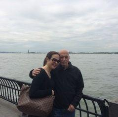 The author and her dad beside the Hudson River in May 2016. (Photo: Courtesy of Tess Clarkson)
