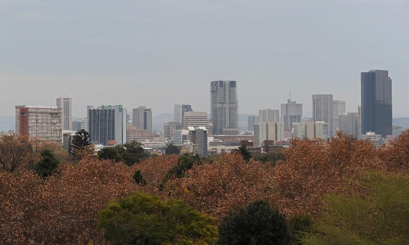 A general view shows Pretoria's skyline, pictured on June 29, 2010