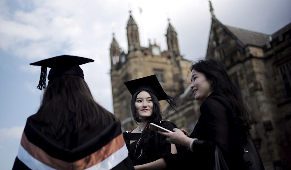 There were about 14,000 Hongkongers and 216,000 mainland Chinese students enrolled across Australia's 43 tertiary institutions in 2020. Photo: Reuters