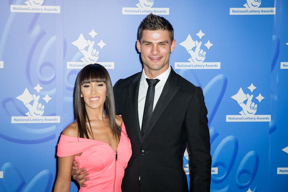 Janette Manrara and Aljaz Skorjanec pose for photographers upon arrival at the National Lottery Stars 2015 event in London, Friday, Sept. 11, 2015. (Photo by Vianney Le Caer/Invision/AP)