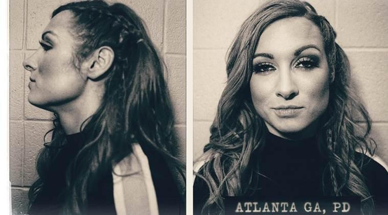 becky lynch, wwe raw, becky lynch mugshots, becky lynch arrest, ronda rousey, becky lynch vs ronda rousey, becky lynch vs ronda rousey wrestlemania, wwe wrestlemania, wwe news, sports news