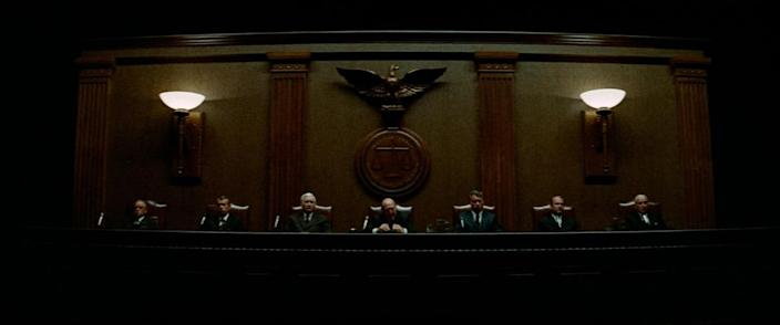 The nearly faceless senate ruling on assassinations in the paranoid thriller The Parallax View.