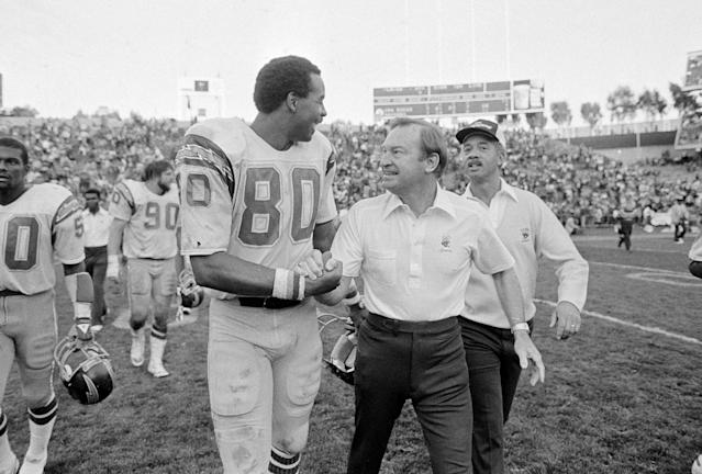 Kellen Winslow Sr. revolutionized the tight end position under Don Coryell's offense with the San Diego Chargers. (AP)