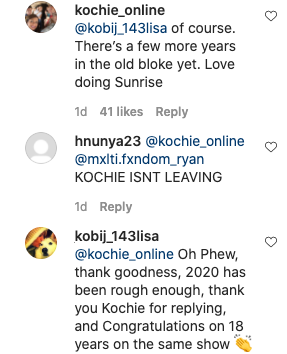 Thankfully, Kochie himself confirmed he's not going anywhere. Photo: Instagram/kochie_online.