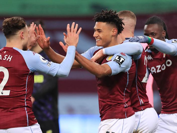 Ollie Watkins (centre) joined Aston Villa from Brentford in the summer (Getty Images)