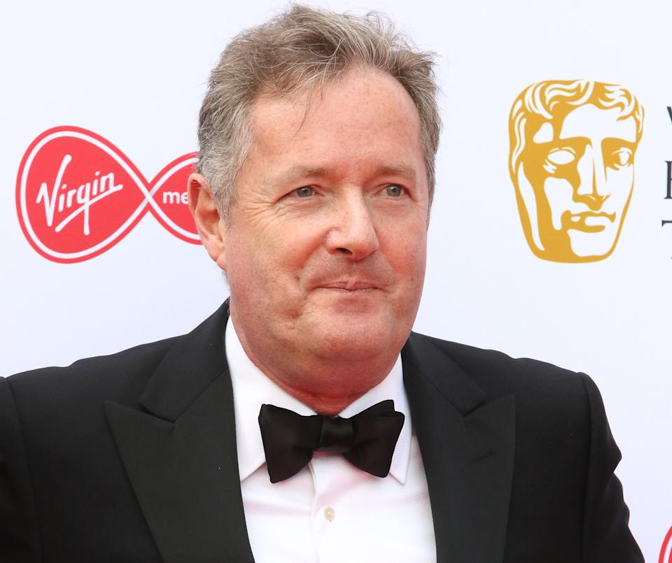 Piers Morgan seen on the red carpet during the Virgin Media BAFTA Television Awards 2019 at The Royal Festival Hal in London. (Photo by Keith Mayhew / SOPA Images/Sipa USA)