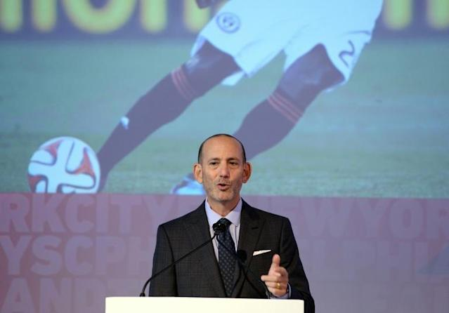 Charlotte, North Carolina will be home to a Major League Soccer franchise, commissioner Don Garber announced (AFP Photo/JEWEL SAMAD)