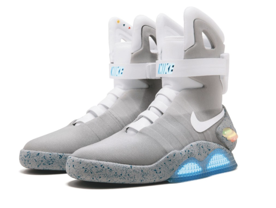 NIKE, NIKE MAG, BACK TO THE FUTURE 2016, SIZE 11, 2016. Image: Sotheby's