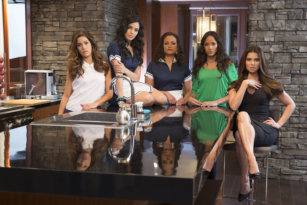 Ana Ortiz, Edy Ganem, Judy Reyes, Dania Ramirez and Roselyn Sanchez star in the new Lifetime series Devious Maids, airing Sundays at 10pm ET/PT, beginning June 23rd on Lifetime.