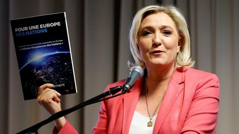 Le Pen's National Rally goes green in bid for European election votes
