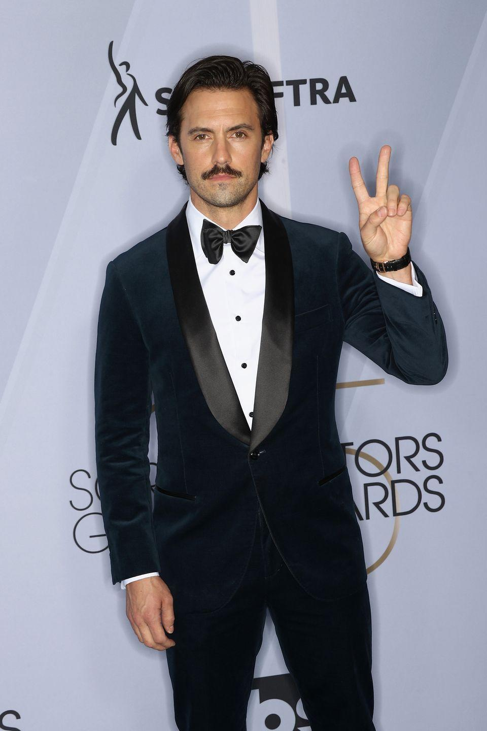 <p>With the mustache, Ventimiglia is the embodiment of his <em>This Is Us</em> character. </p>