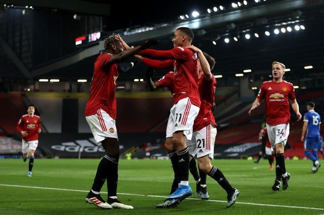 Manchester United's Mason Greenwood celebrates his goal