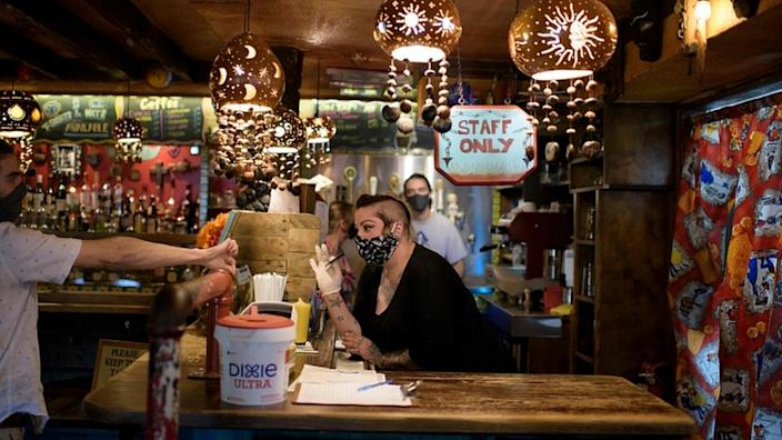 Bars like this one in Houston have to close but could run deliveries or takeaway services