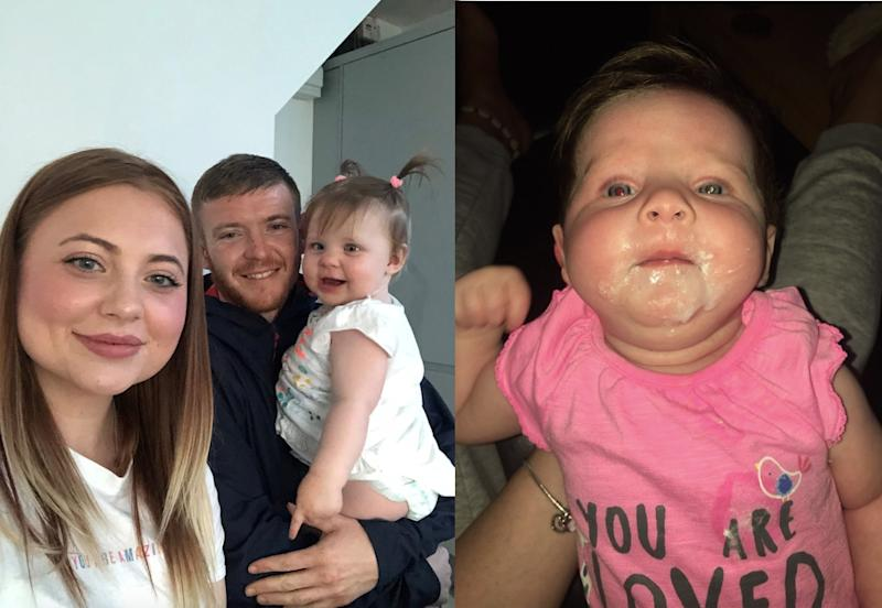 Dela-Rose was diagnosed with retinoblastoma after her parents spotted a strange white glow in her eye. (PA Real Life)