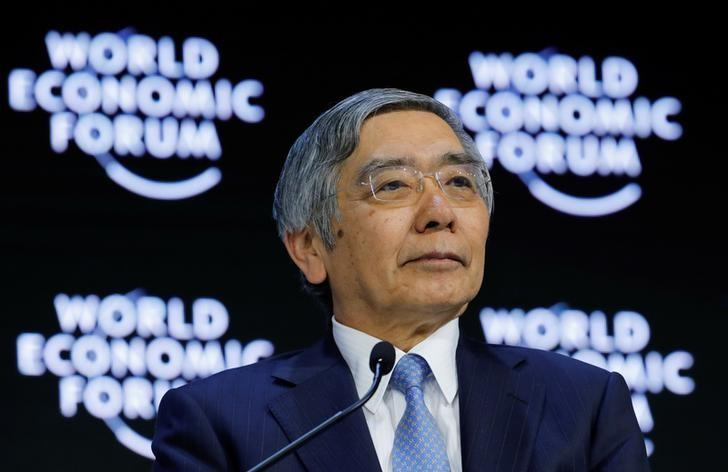 Haruhiko Kuroda, Governor of the Bank of Japan, attends the World Economic Forum (WEF) annual meeting in Davos