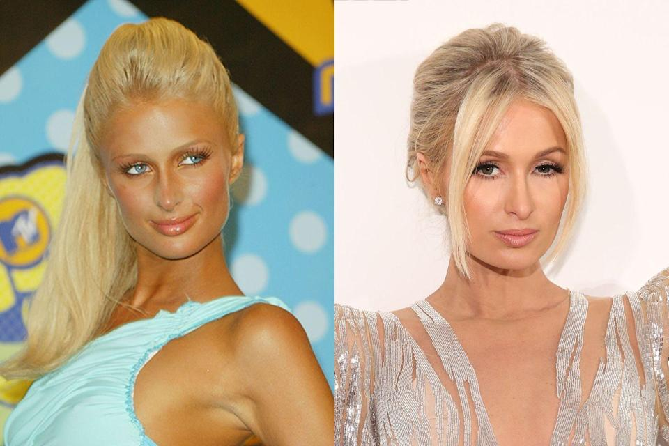 <p>The same goes for Paris. While she's still rocking her iconic blonde mane, the socialite's look is more natural these days. The biggest contrast between then and now is her noticeably less tan skin.</p>