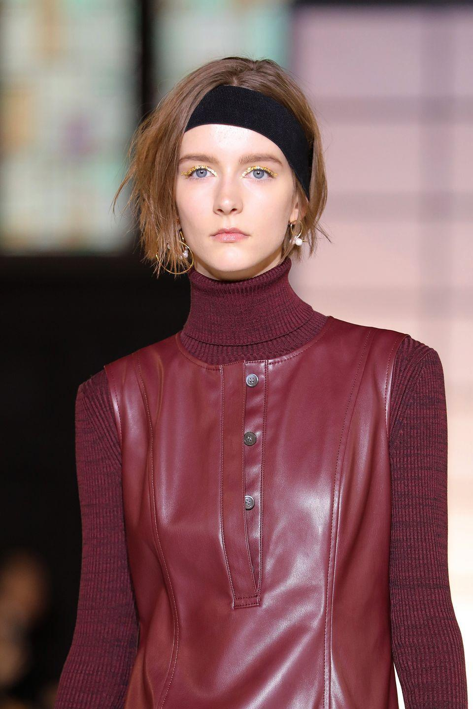 <p>Headbands are still going strong too, but taking a more athletic turn, as seen at the Adeam show.</p>