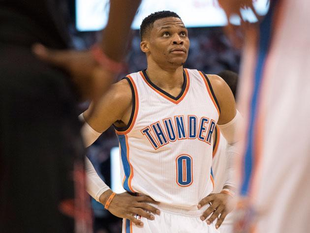 Russell Westbrook split camps in 2016-17. (Getty Images)