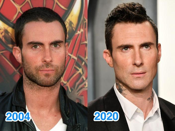 adam levine then and now