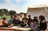 Khatoun said he dreams of a better future for his orphaned grandchildren in which they would have a house and a car