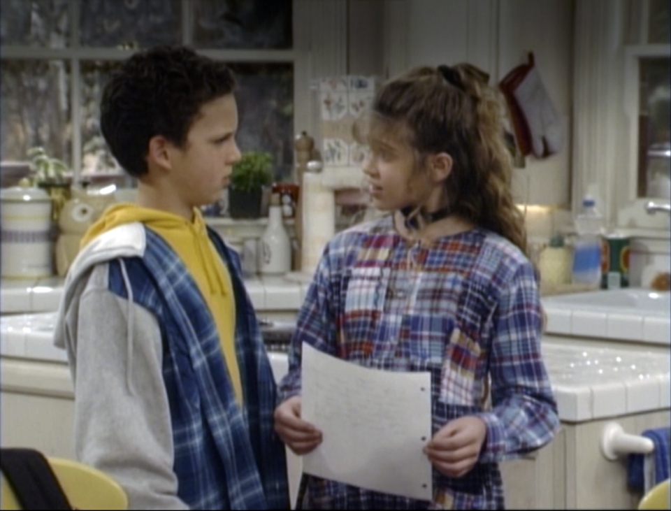 Cory and Topanga start off as reluctant friends.
