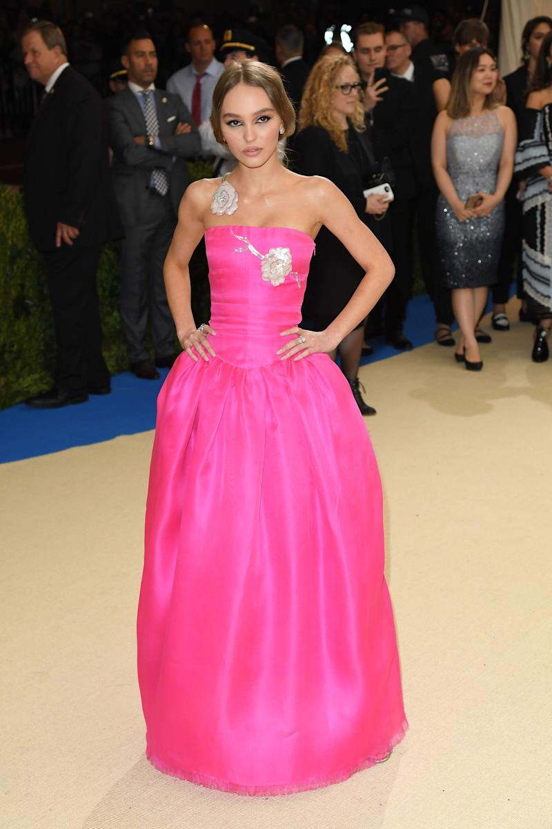 Lily-Rose Depp at the Met Gala in New York City on May 1, 2017.