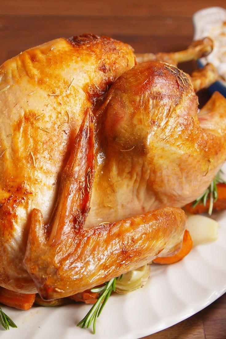 """<p>A straightforward and easy way to roast a turkey.</p><p>Get the recipe from <a href=""""https://www.delish.com/cooking/recipe-ideas/recipes/a55338/best-oven-roast-turkey-recipe/"""" rel=""""nofollow noopener"""" target=""""_blank"""" data-ylk=""""slk:Delish"""" class=""""link rapid-noclick-resp"""">Delish</a>.</p>"""