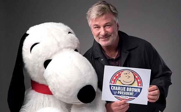 Alec Baldwin chooses Charlie Brown for President, urges young people to vote
