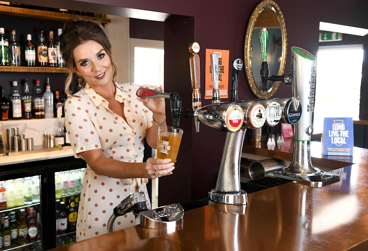 Candice Brown swapped teaching and baking for pulling pints when she became a pub landlady in 2019. (PA)