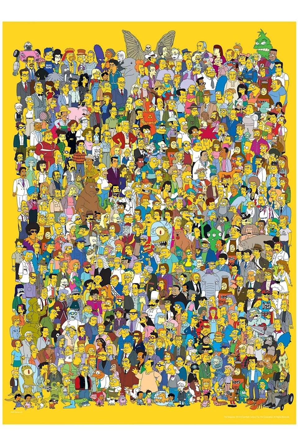 <p>Your mini <strong>The Simpsons</strong> fan will love this <span><strong>The Simpsons</strong> Cast 1000 Piece Puzzle</span> ($22).</p>