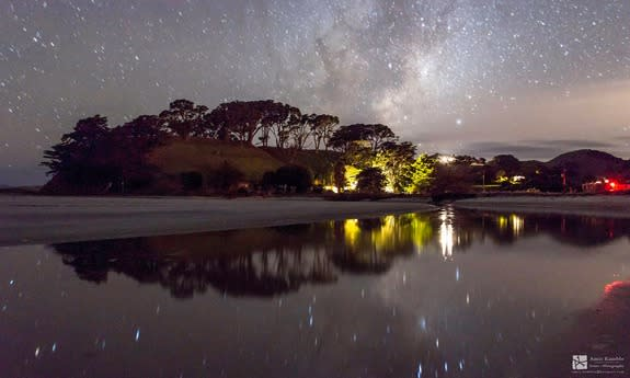 Stargazer Amit Ashok Kamble captured this stunning view of the Milky Way reflected in a still pool at Pakiri Beach in New Zealand. Image submitted May 5, 2014.