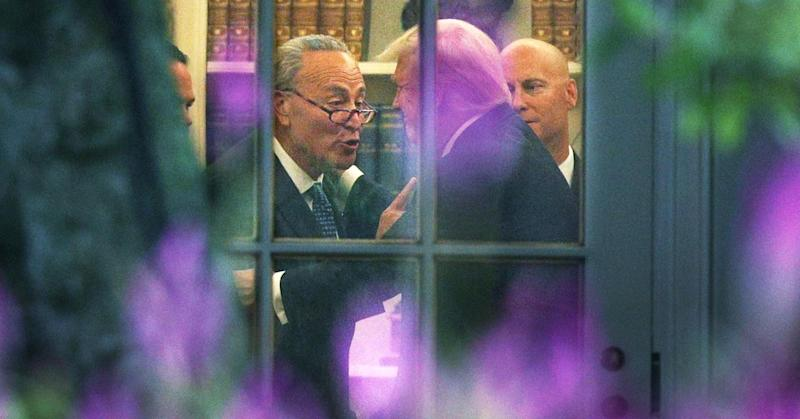 Chuck Schumer goes to the White House to talk to Trump about avoiding a shutdown